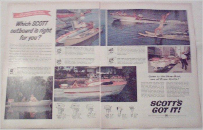 1960 Scott Boat ad