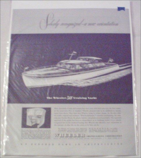 Wheeler 50' Yacht ad