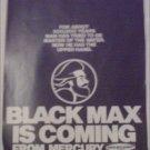 Mercury Black Max Motor Teaser ad