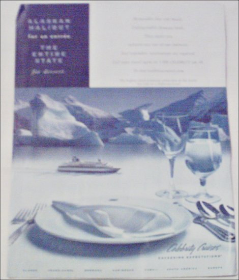 2000 Celebrity Cruise ad