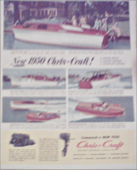 1950 Chris-Craft Boat ad