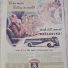 1938 Greyhound Bus Lines ad