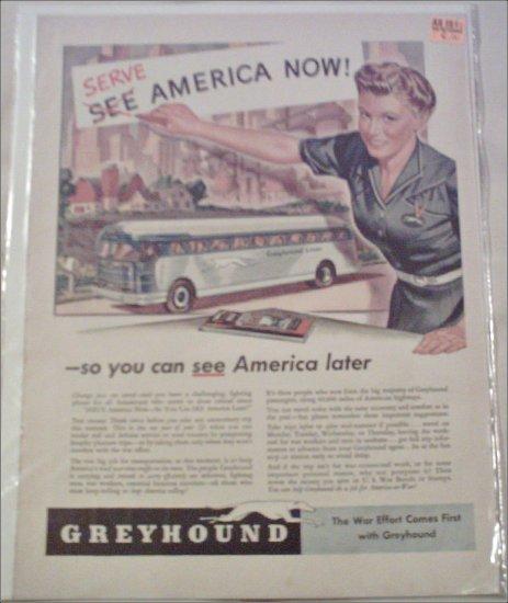 1942 Greyhound Bus Lines ad