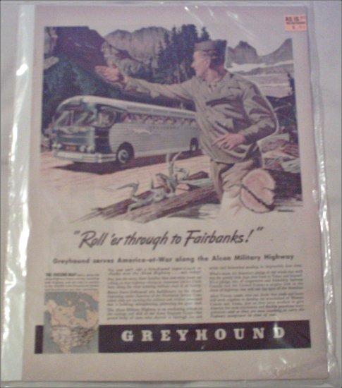 1943 Greyhound Bus Lines ad