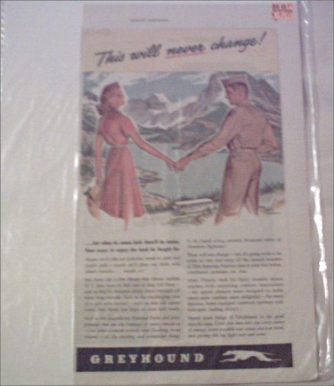 1944 Greyhound Bus Lines ad #1