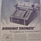1950 Burroughs Sensimatic Accounting Machine ad
