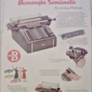 1952 Burroughs Sensimatic Accounting Machine ad #1