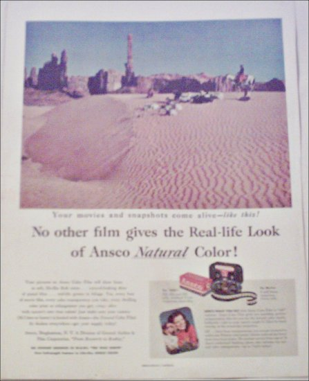 1952 Ansco Color Film ad