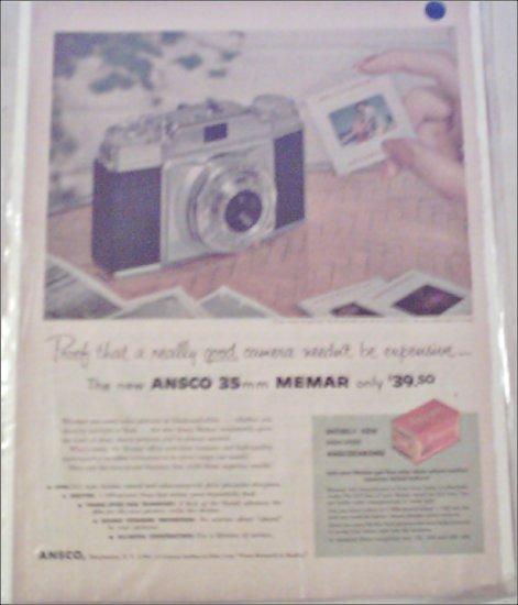 Ansco 35 mm Memar Camera ad #1