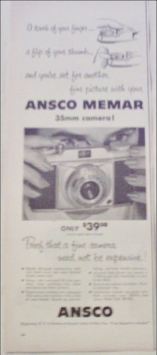 Ansco 35 mm Memar Camera ad #2