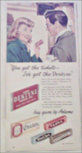 Adams Gum ad featuring Dentyne