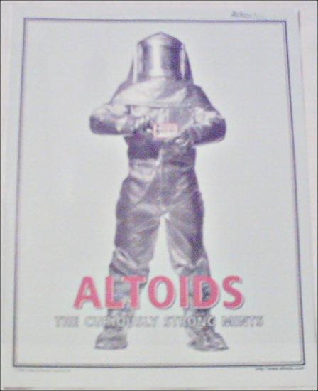 1998 Altoids Mints Firesuit ad