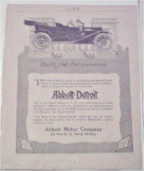 1911 Abbott-Detroit Touring Car ad