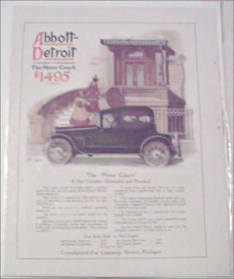 1916 Abbott-Detroit Motor Coach Car ad