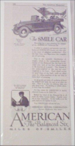 1918 American Touring Car ad