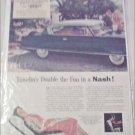 1954 American Motors Nash 2 dr HT & 4 dr Sedan Car ad