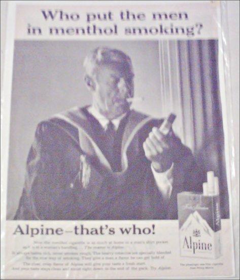 Alpine Cigarette ad