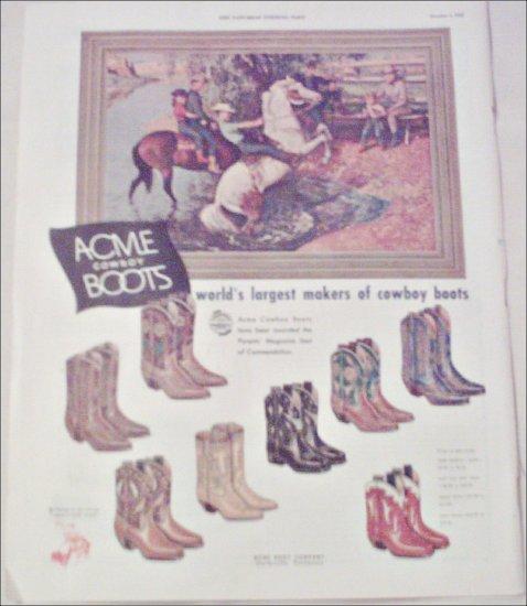 1952 Acme Cowboy Boots ad