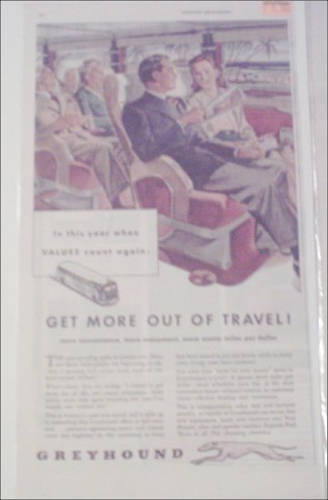 1946 Greyhound Bus Lines Get More Out Of travel ad