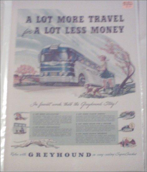 1949 Greyhound Bus Lines ad