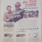 1949 Greyhound Bus Lines We Save Time ad