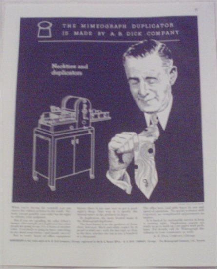 1946 A B Dick Duplicator Machine ad