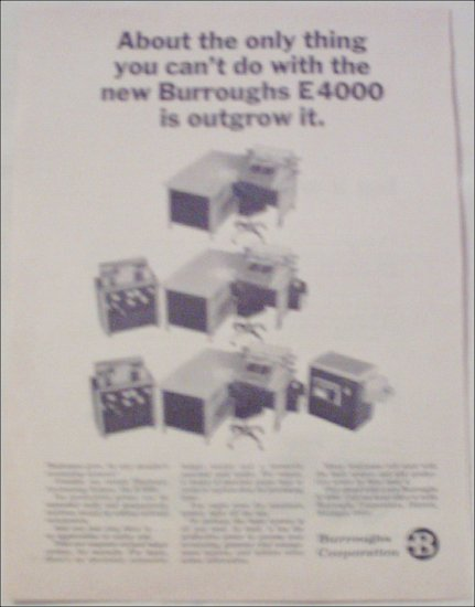 Burroughs E4000 Accounting System ad