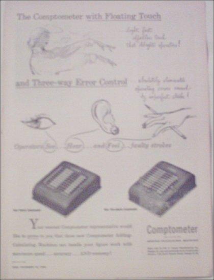 1950 Comptometer Calculating Machines ad