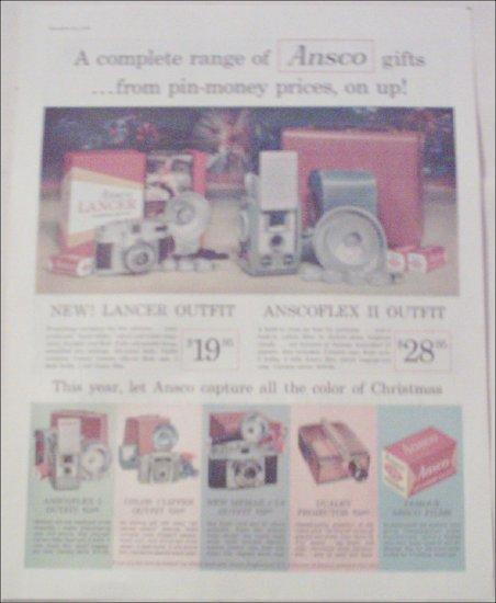 1958 Ansco Cameras Christmas ad