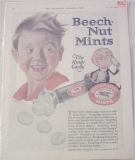 1920 Beech-Nut Mint Boy ad