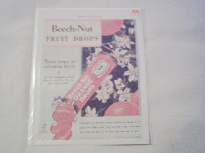 1930 Beech-Nut Fruit Drops ad