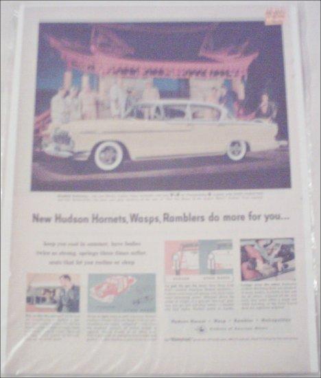 1955 American Motors Hornet Custom 4 dr sedan car ad