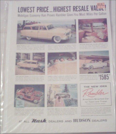 1955 American Motors Rambler stationwagon car ad