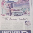 1943 Greyhound Bus Lines Amazing America ad