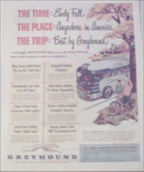 1951 Greyhound Bus Lines Early Fall ad