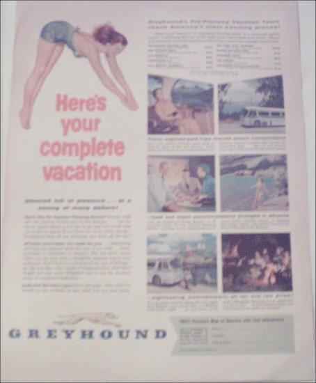 Greyhound Bus Lines Vacation ad