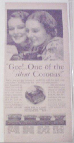1934 Corona Typewriter ad