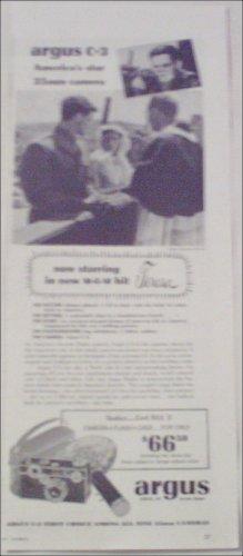 Argus C-3 35 mm Camera featured in Movie Teresa ad