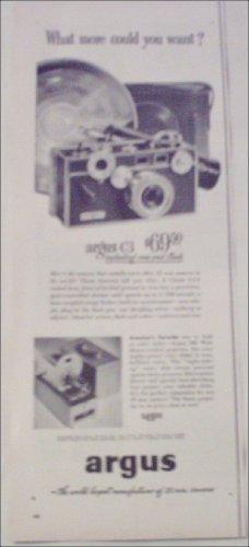 1953 Argus C3 35 mm Camera What More ad