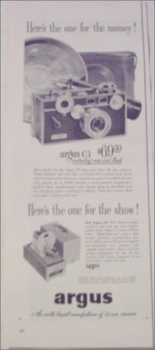1953 Argus C3 35 mm Camera Heres the one ad