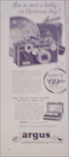 1953 Argus C3 35 mm Camera Christmas ad