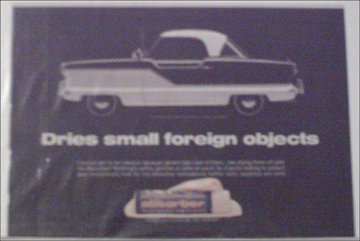 1955 American Motors Nash Metropolitan car ad for Absorber Rags