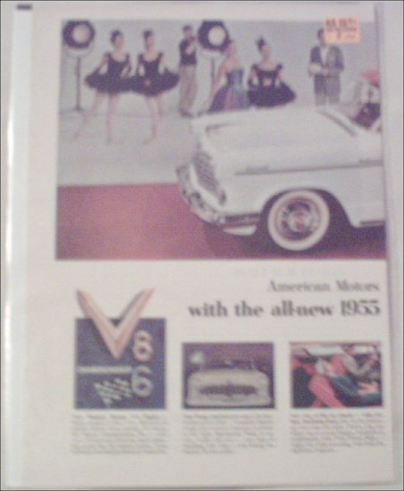 1955 American Motors Hudson Hornet 2 dr ht car ad
