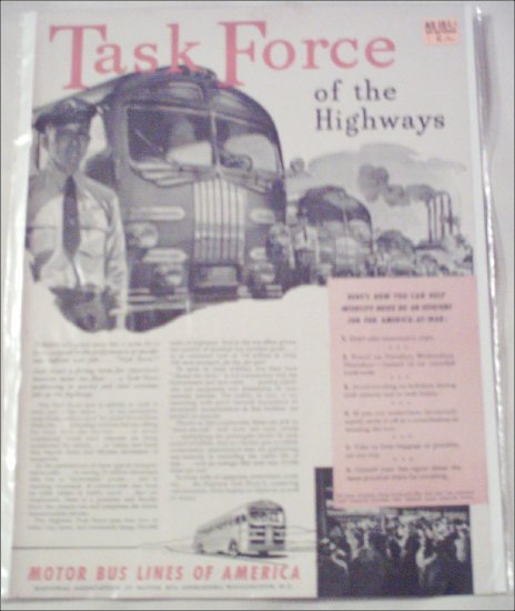 1943 Motor Bus Lines Of America ad