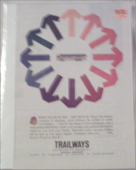 1962 Trailways Bus Line ad