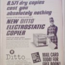 1965 Ditto Electrostatic Copier Machine ad