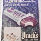 1948 Brachs Mint Twins Candy Bar ad