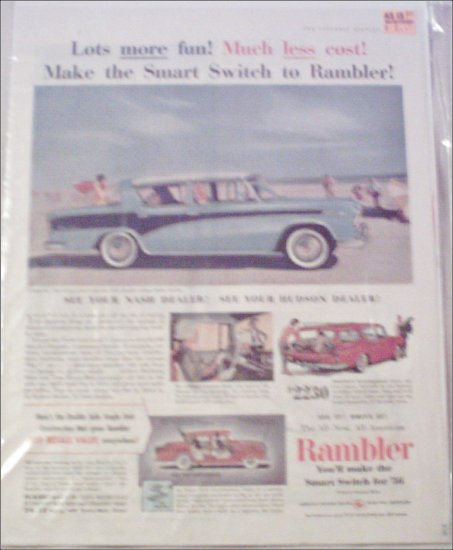 1956 American Motors Rambler 4 dr sedan car ad
