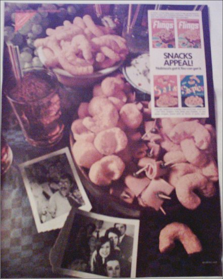 1968 Nabisco Flings & Shapies ad