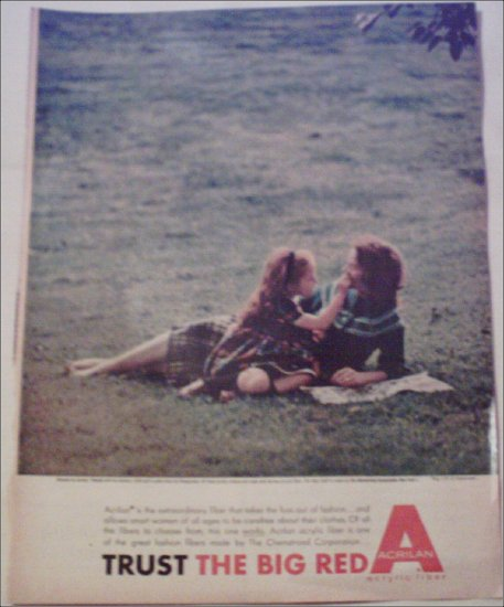 Acrilan Lady and Child ad